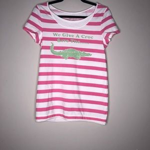 Lily Pulitzer We Give A Croc Tee S